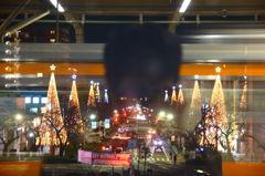 国立駅前イルミネーション1