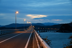Early-morning bridge