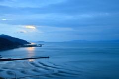 Blue sandy beach