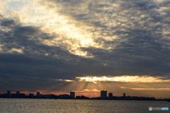 三番瀬の夕日6