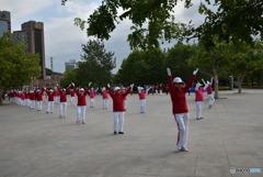 大連の広場ダンス