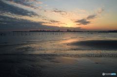 三番瀬の夕日4