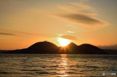 洞爺湖の夕日2