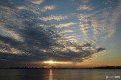 三番瀬の夕日2