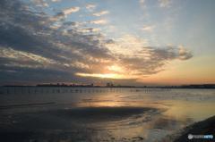 三番瀬の夕日3