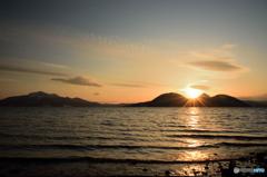 洞爺湖の夕日1