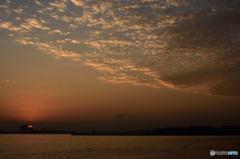三番瀬の夕日10