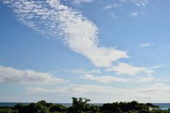 千里浜の空