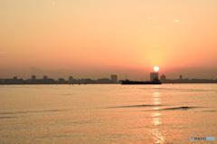 三番瀬の夕日11