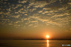 三番瀬の夕日9