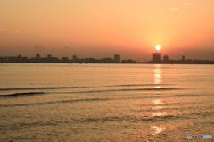 三番瀬の夕日8
