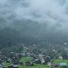 雨中白川郷