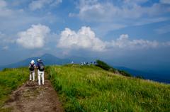 山頂へ続く道