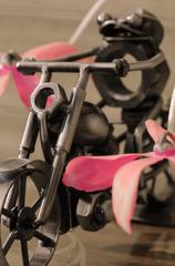 BronzeRiderと赤い花