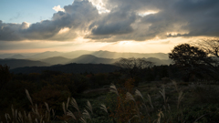 茶臼山夕景