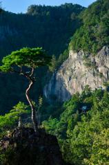 鳳来寺山 鏡岩(屏風岩)