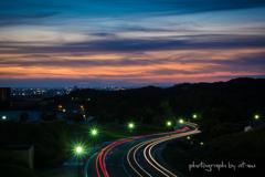 僕の町の夕景