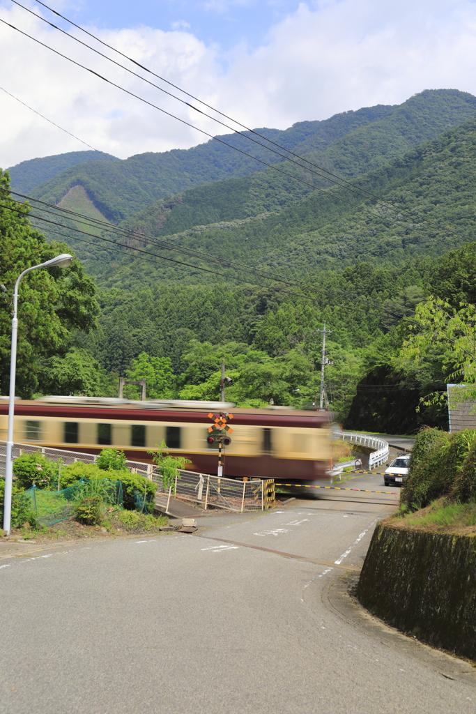 夏の田舎の列車