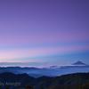 山頂の夜明け