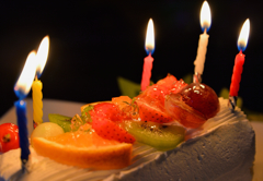 Candle with celebration