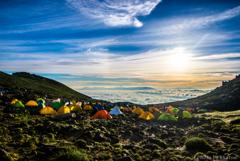 天空のテント場
