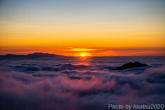 雲海と夕日2