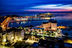 アドリア海 スプリトの夜景