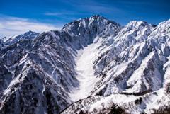 氷河 カクネ沢雪渓