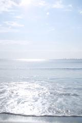 波と海と水平線