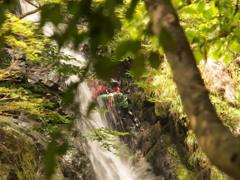 黒岩の滝5 滝登り 兵庫 神河町