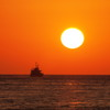 夕日 明石海峡