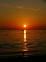 夕日  播磨灘