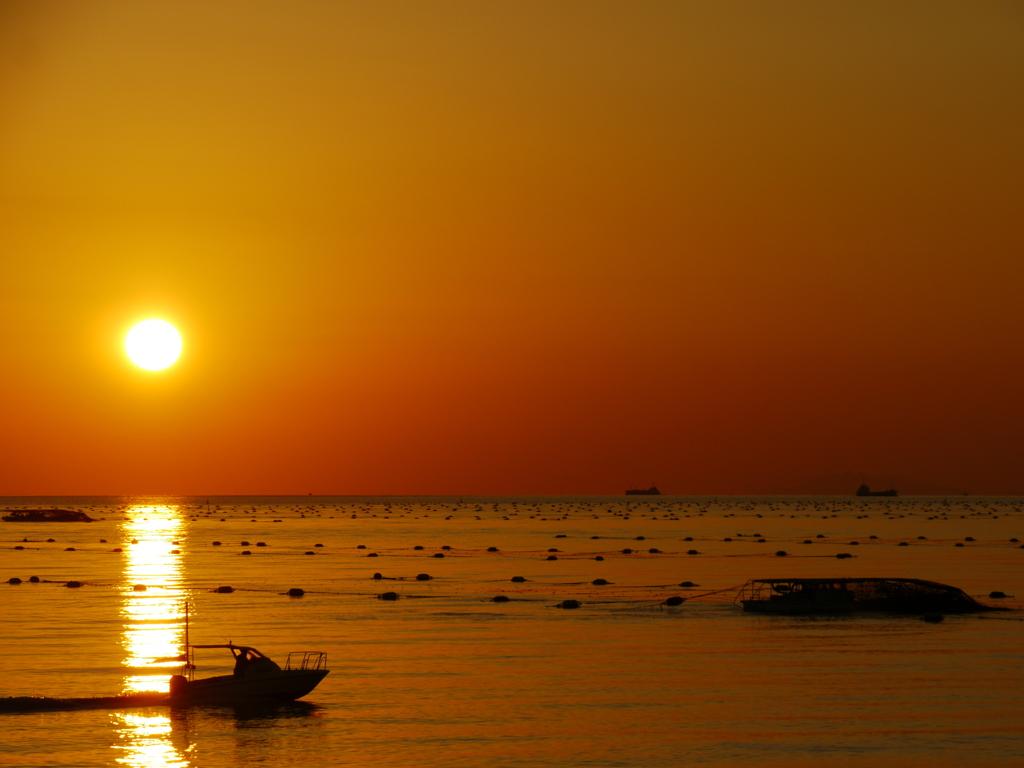 夕景  播磨灘