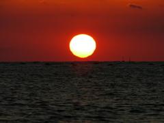 だるま夕日の予感 播磨灘