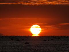 だるま夕日 播磨灘
