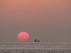 よーく見るとダルマ 播磨灘 20210131