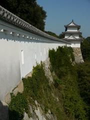 明石城 坤櫓から巽櫓を望む
