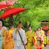 葵祭、賀茂川堤にて