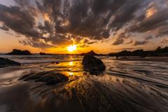 Evening  Sandy beach