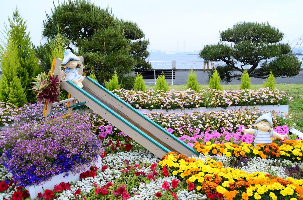 横浜 山下公園花壇展