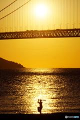 夕陽のバッター