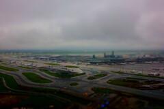 rainy narita airport