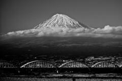 mt.fuji and fujikawa water bridge