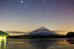 富士と星と雲と①