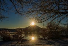 雪の母子島
