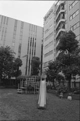 ビル間の公園