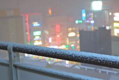 東京が雪の日  ざわめき