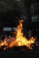 新春神事の炎…