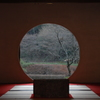 円窓の冬景色…