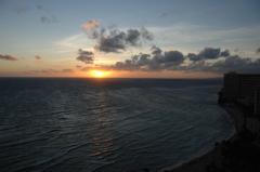 大洋の夕景…